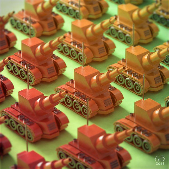 10/06/2016 Military factory IX / Usine militaire IX by Guillaume Boizanté | Illustration | 3D | CGSociety