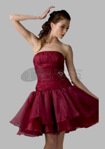 Abiti da Ballo Corti-senza spalline knee-lunghezza Satin abiti da ballo corti