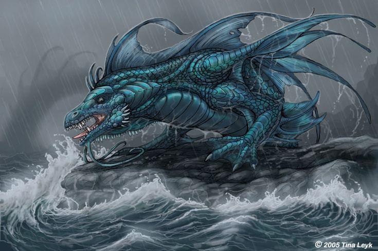 Sea Dragon by jaxxblackfox on deviantART