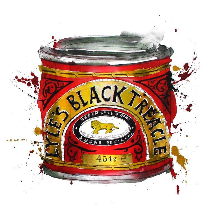 Lyle's Black Treacle, illustration by Georgina Luck.