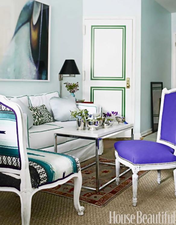 Vibrant Bleu Et Violet Appartement Décor