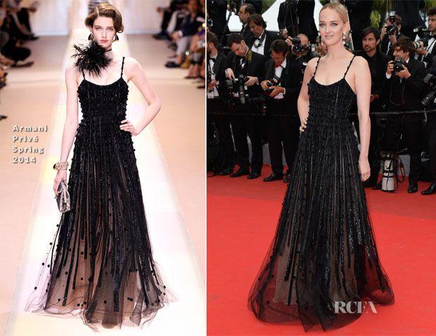 Jess Weixler In Armani Privé – 'Foxcatcher' Cannes Film Festival Premiere