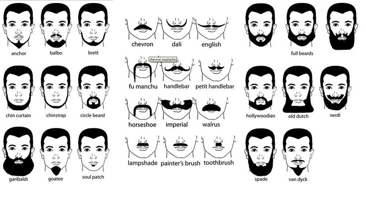 Never knew there were so many names for facial hair ...