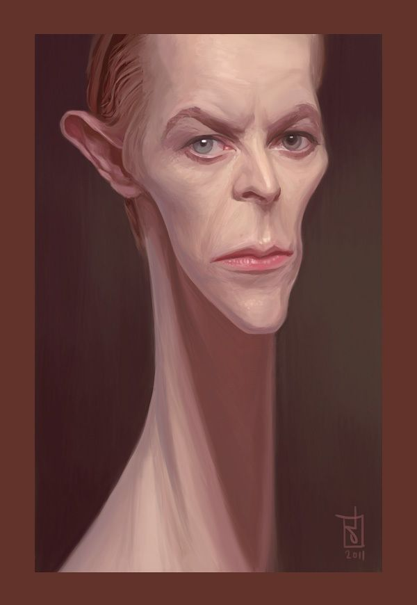 Awesome Celebrity Caricatures by Alberto Russo: Bowie Par, Caricatures Art, Alberto Russo, Pop Rocks, Celebrity Caricatures, Art Life, Artsy Fartsi, Art Drawings, David Bowie