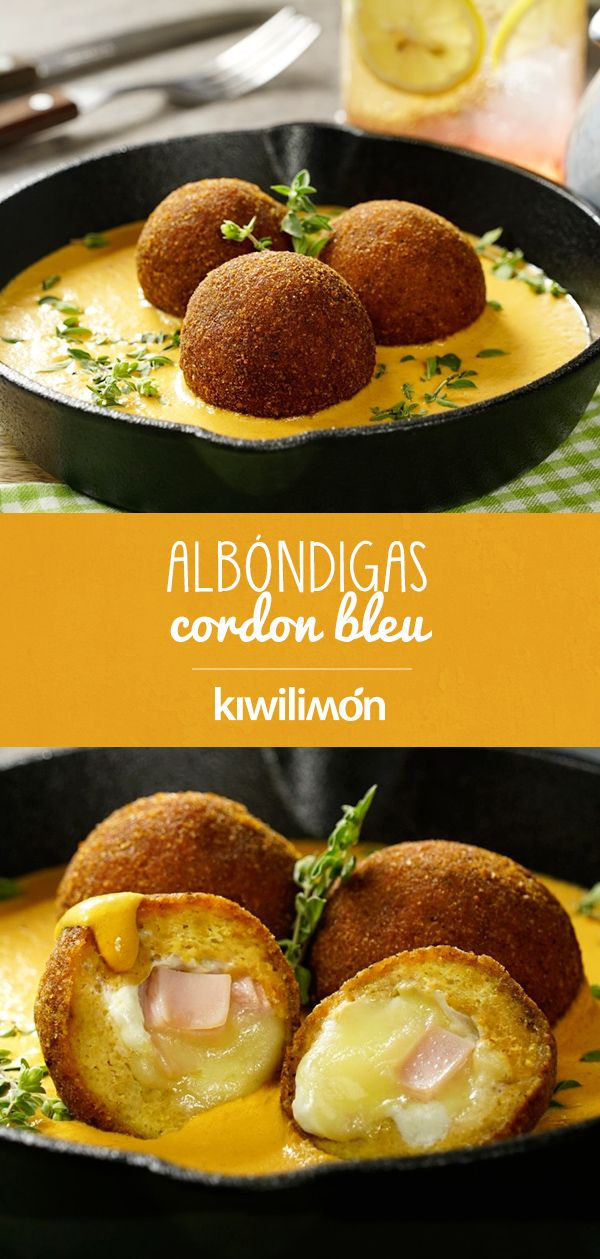 Albóndigas Cordon Bleu Recetas De Comida Albondigas Receta Recetas Para Cocinar