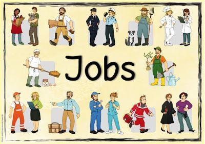 """Ideenreise: Englischplakat """"Jobs"""""""