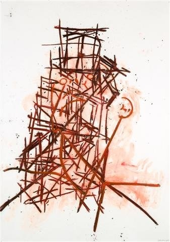 Tony Bevan - Head and Neck with Tower/em, 2008