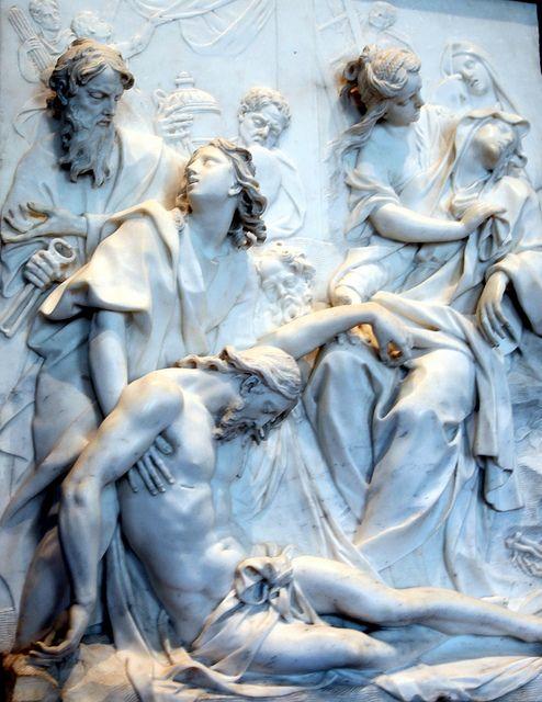 5-25-13 Pierre-Etienne Monnot Christ & Mary marble bas relief   Flickr : partage de photos !