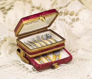 Limoges Silverware Chest Box