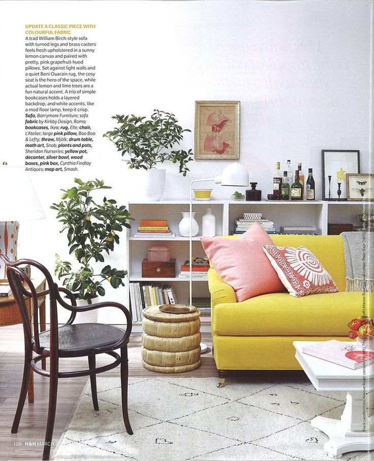 Two years ago our Dylan Sofa graced this House & Home page in a sunny yellow and it still looks hot. #beautiful #Canadian