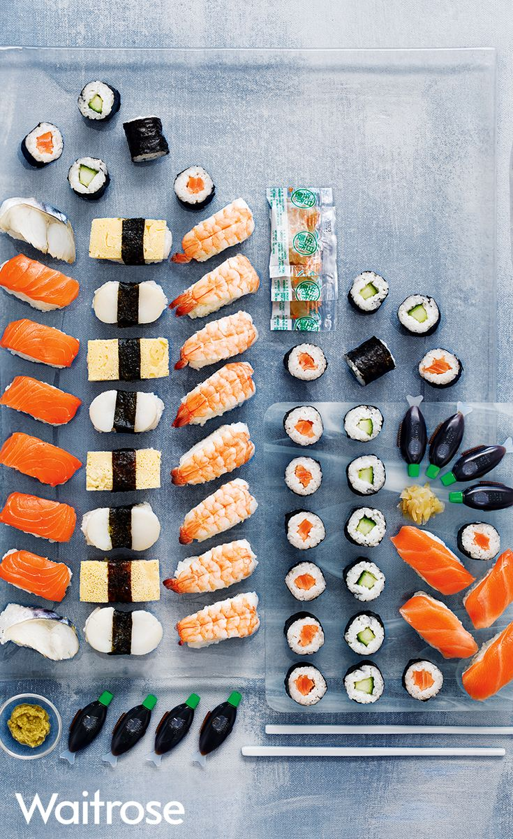 Perfect for larger parties or celebrations, our 52 piece Taiko sushi platter is sure to please the sushi lovers. Find even more sushi platters on the Waitrose Entertaining website with food made to order.