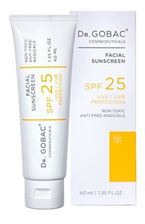 Product - SUNSCREEN SPF 25 - DR.GOBAC This Week Is School Health Week! Dont Forget to Apply Sufficient Sunscreen to Your Children before school! #DrGobacCosmeceuticals is Safe EVENon Babies' Delicate Skin, UVA and UVB Protection!!