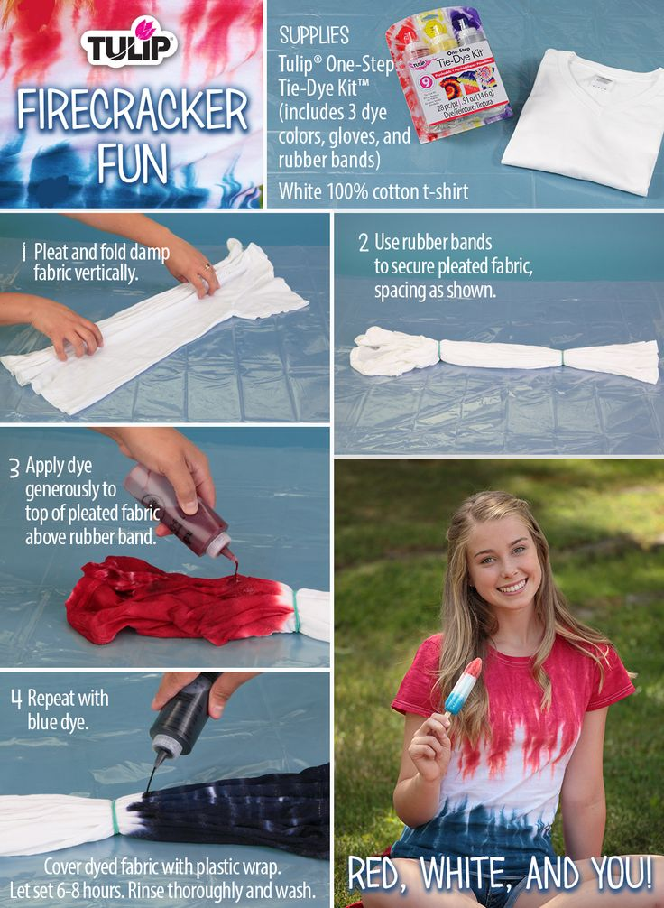 Red, white and blue...plus a little tie-dye?! Nothing says sweet summer time like a DIY'ed tie-dye t-shirt!