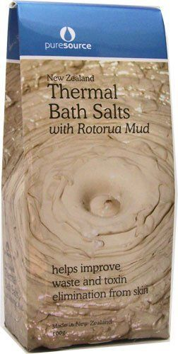 Thermal Bath Salts with Rotorua Mud by Pure Source. $7.85. Thermal Bath Salts 100gr/3.53oz These bath salts with the added benefit of Thermal Mud help improve waste and toxin elimination from the skin. While you relax your muscles in a steamy bath the Thermal Mud improves your skin by drawing out undesirable oils and expels toxins.