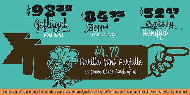 http://myfonts.us/6jqbgN Chef Script font by Andinistas combines warmth and good humor