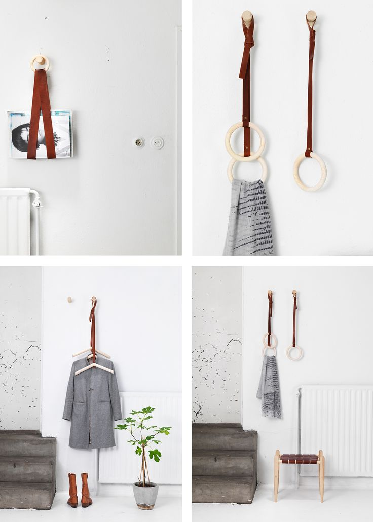 DIY Inspiration - Leather Hangers from Formbuket