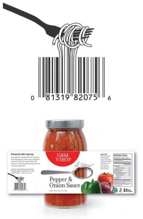 Creative barcode illustration