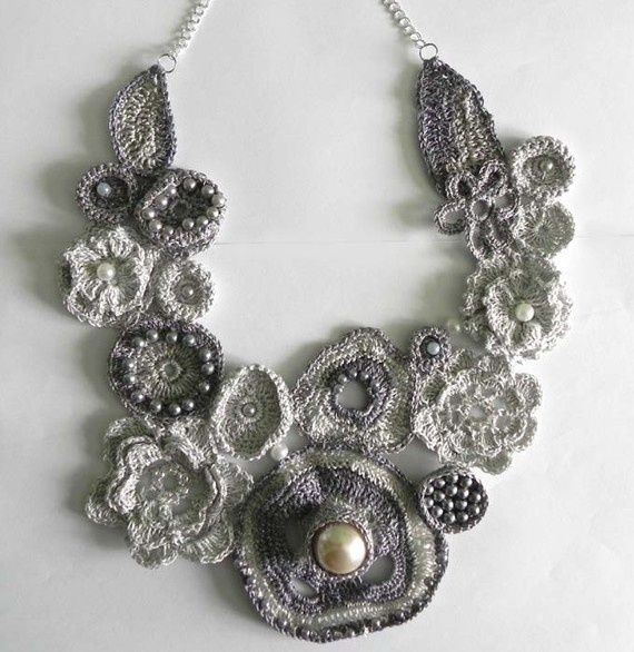 The Common Thread, crocheted necklace