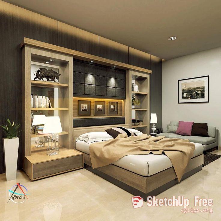1297 Interior Bedroom Scene Sketchup Model Free Download ...