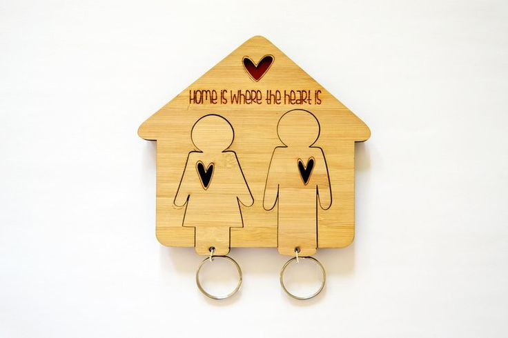 His & Hers bamboo key chains by HALLO JANE