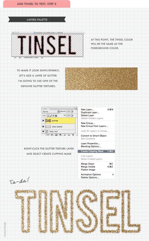 tinsel brush tutorial