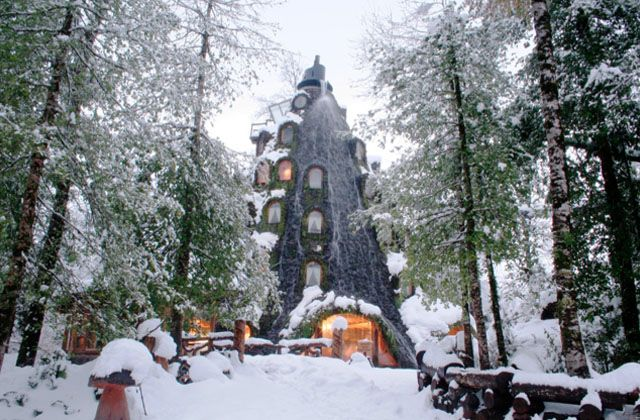 Winter at the Montana Magica Lodge in Chile.