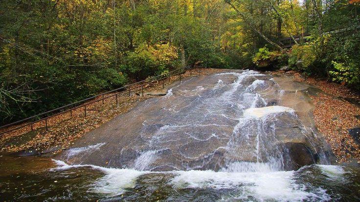 North Carolina: Enjoy splashy summer fun at Sliding Rock in the Pisgah National Forest, near Brevard... - Jill Lang, Shutterstock.com