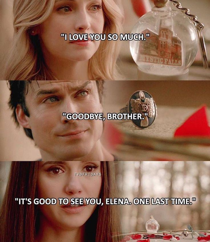 Stefan's last words to Caroline, Damon, and Elena