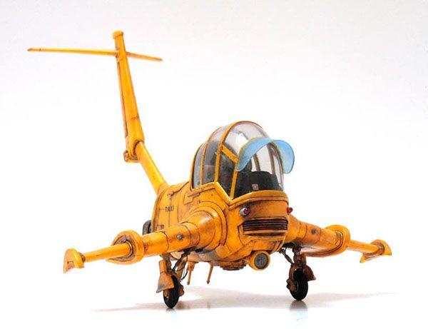 A model kit of Enki Bilal's flying taxi in La Femme Piège.  http://en.wikipedia.org/wiki/La_Femme_Piège
