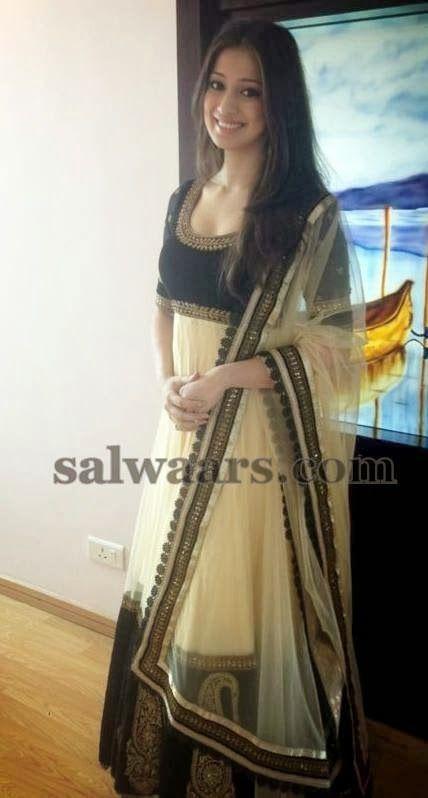 Lakshmi Rai in Anarkali Cream Churidar | Indian Dresses