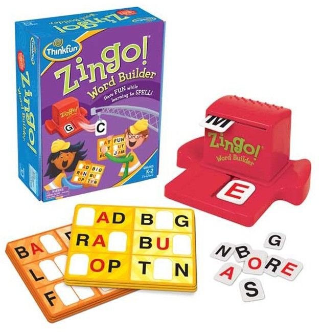 Thinkfun - Game Zingo Word Builder Our family all love the original Zingo game so I am sure this word building twist would be fun and also help with spelling and letter sounds. sAD mAD bAD dAD - can't wait to see what sentences they create with their new words  #entropywishlist #pintowin
