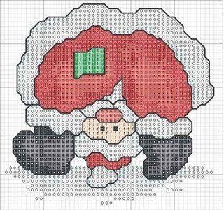 El Parche De Papa Noel En Punto De Cruz