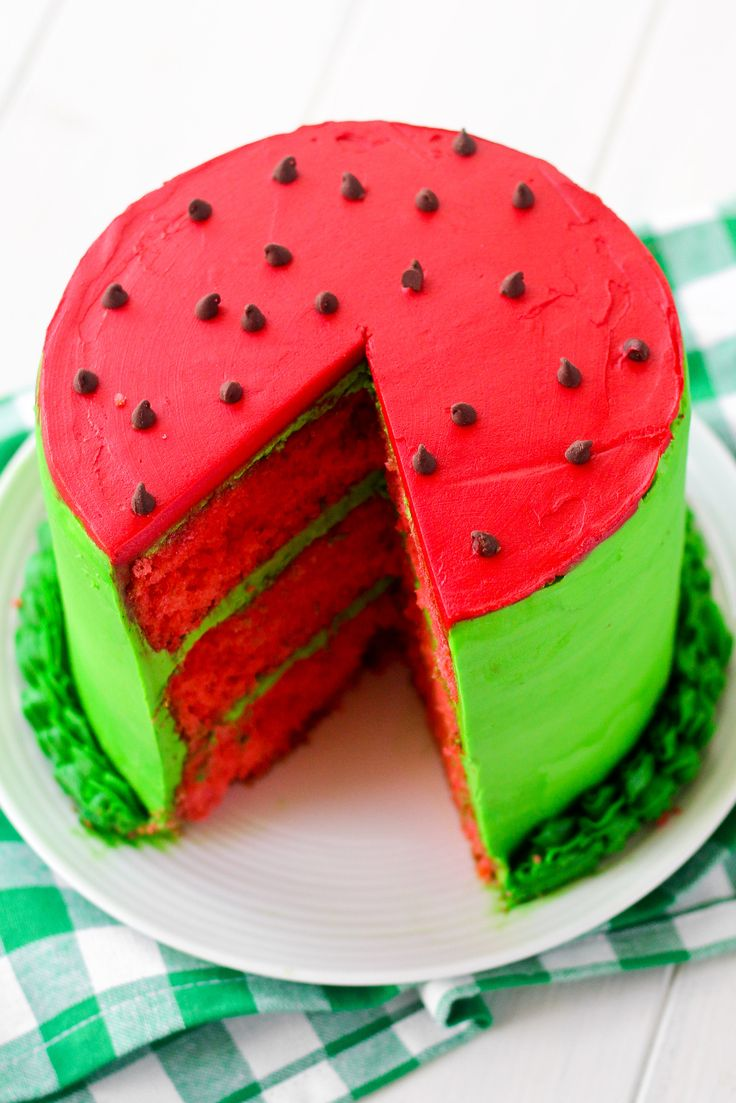 Watermelon Layer Cake - Confessions of a Cookbook Queen