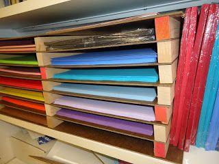 Large 12x18 Construction Paper Organization