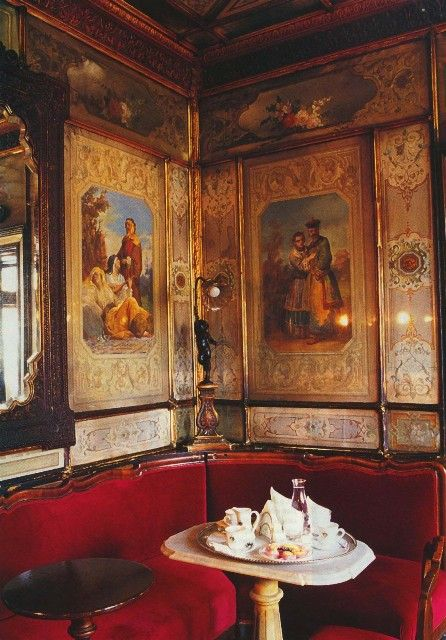 Caffè Florian, opened in 1720 in Piazza San Marco in Venice. It is Italy's oldest Café.