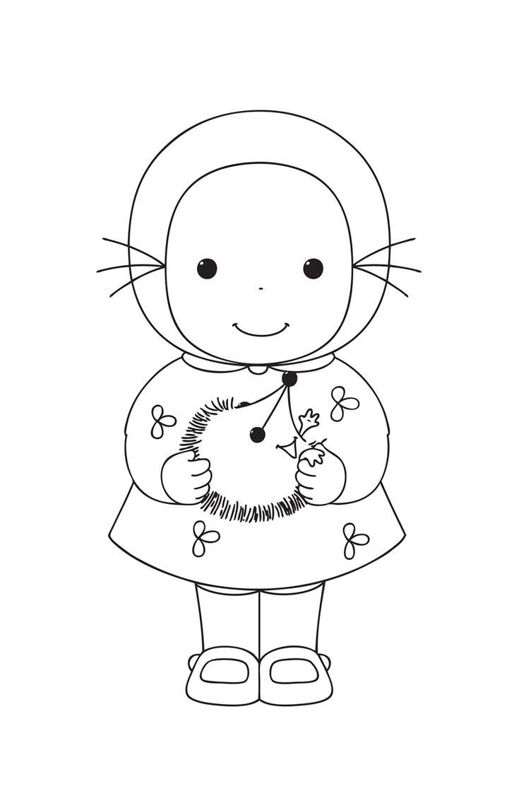 Emilie à colorier, lot de 4 poupées de 16 cm de haut - Emilie par Domitille de Pressensé - Motif Personnel