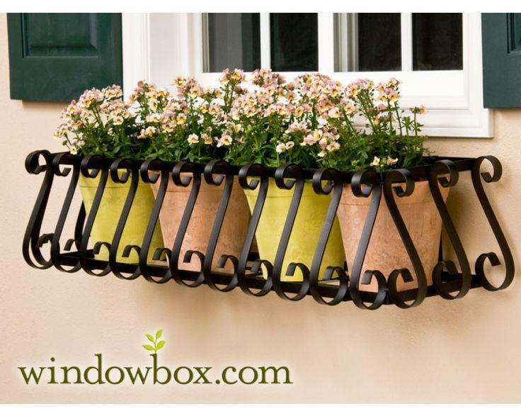 """60"""" European Window Box Cage (Square Design) - 60"""" Window Boxes - Window Boxes - Windowbox.com"""