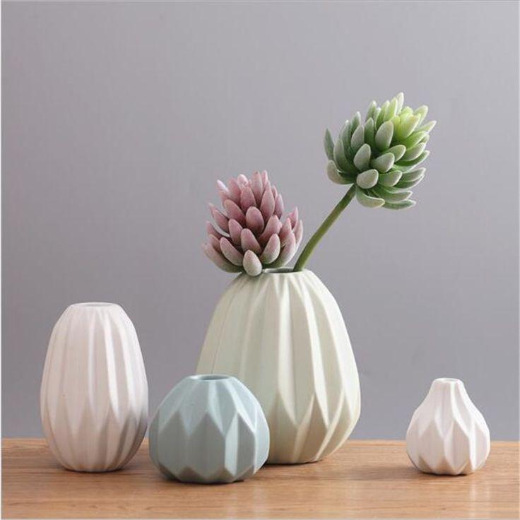Nordic современный минималистский гостиной обеденный стол мягкие украшения керамические вазы Украшения засушенные цветы цветочные композиции купить на AliExpress