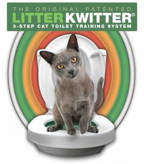 Litter Kwitter - Kit litière pour entraîner votre chat à se servir de vos toilettes!_3: