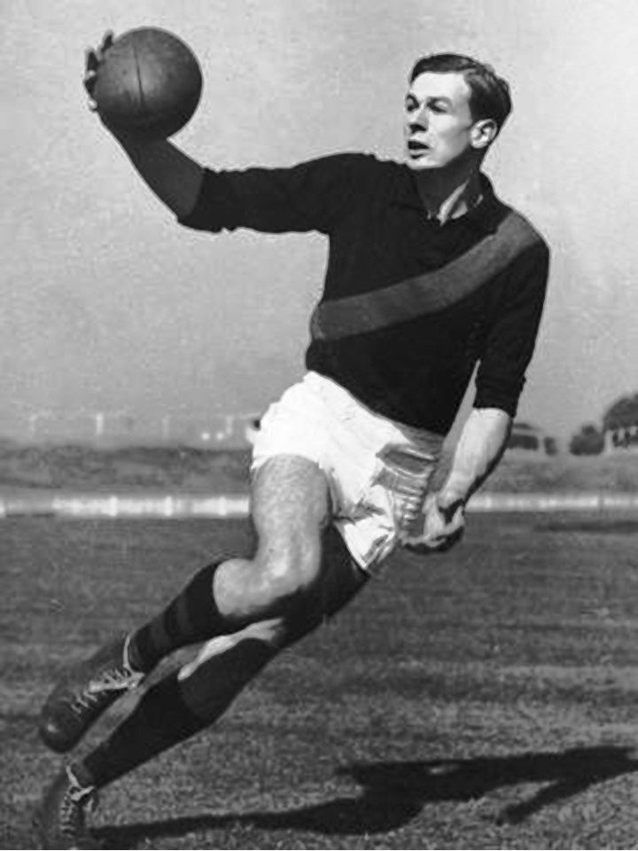 Legend - John Coleman (Essendon). Games 98. Champion full-forward who was a high-flying goal kicking genius. His strength one-on-one was brilliant and he was not intimidated by any opponent. His playing career was tragically cut short by a knee injury.