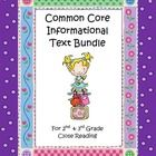 This is a bundle pack of five informational text sets that each sell separately.  Each set contains two texts (for compare/contrast texts about the...