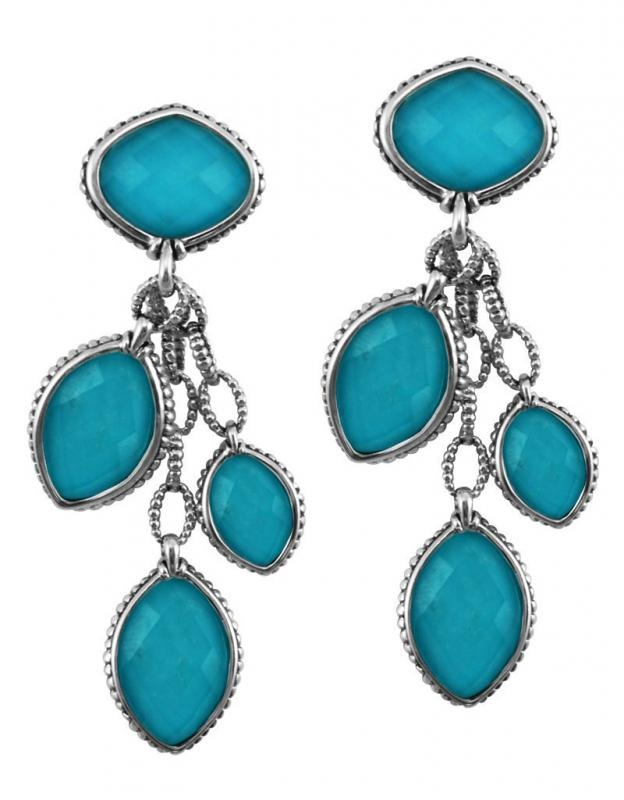 The exception to my standard hoop earring:  Lagos Venus earrings in Turquoise #lagos #earrings: Beati Turquoi, Drop Earrings, Things Turquoi, Turquoi Earrings, Lago Venus, Turquoi Jewelry, Lago Turquoi, Hoop Earrings, Venus Earrings