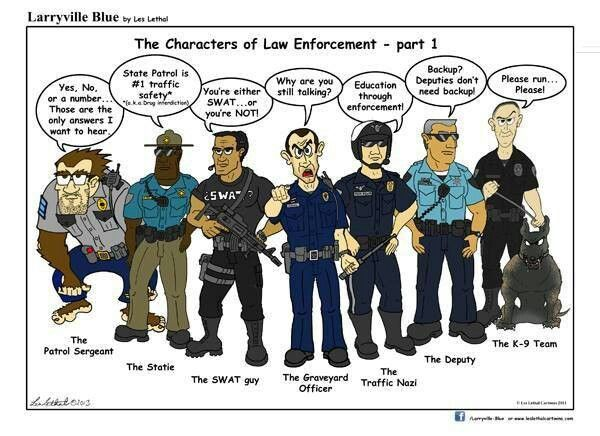 Graveyard officer = me. LOL. Cop Humor.