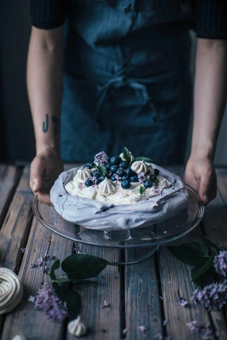 Gluten-free Blueberry Pavlova & Blueberry Banana Ice-Cream