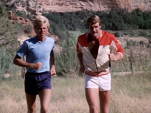 TSMDM - Running with the Bionic Boy (Vincent Van Patten) as Steve (Lee Majors) helps him test out his new legs.