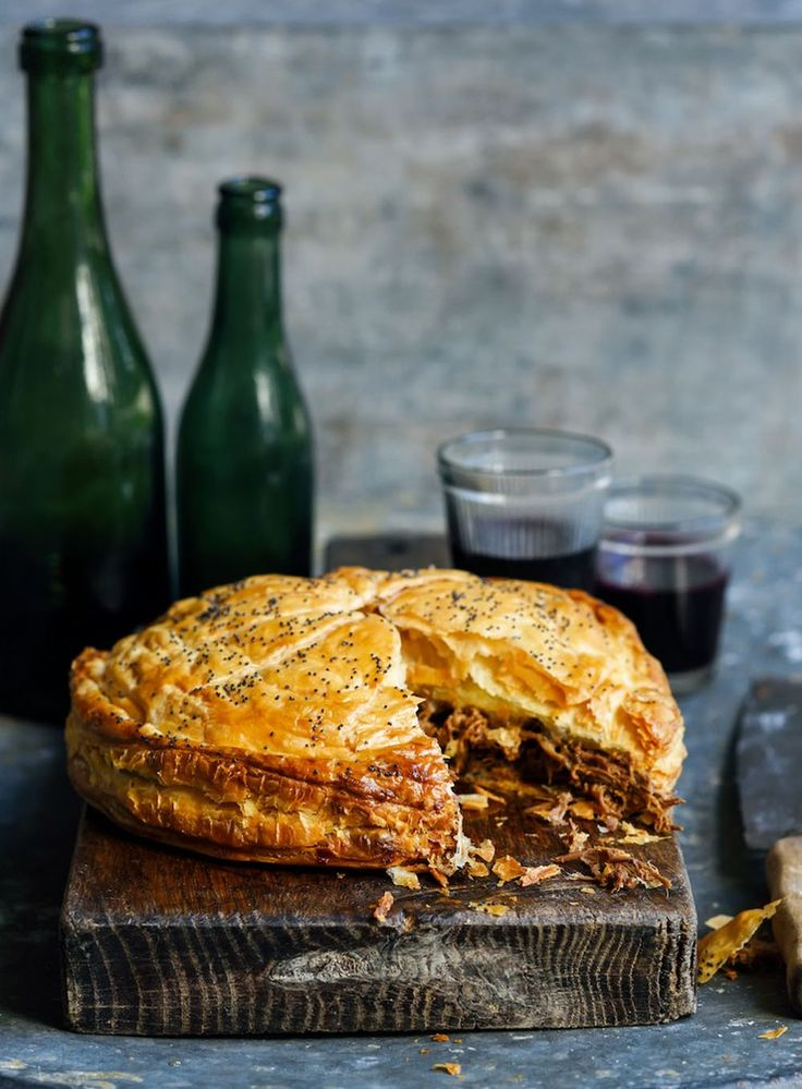 This pie is super easy to make, and totally indulgent. If using left-over roast lamb you will need three cups per pie.