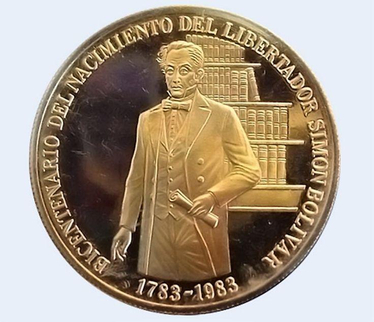 Venezuela Moneda 3000 Bs oro 1983 - Bicentenario Natalicio Libertador Simon Bolivar a