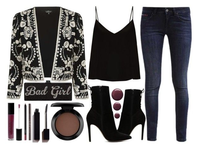 """""""Easy For A Good Girl To Go Bad"""" by latoyacl ❤ liked on Polyvore featuring Topshop, Raey, Hilfiger, ALDO, MAC Cosmetics, Parlor and NARS Cosmetics"""