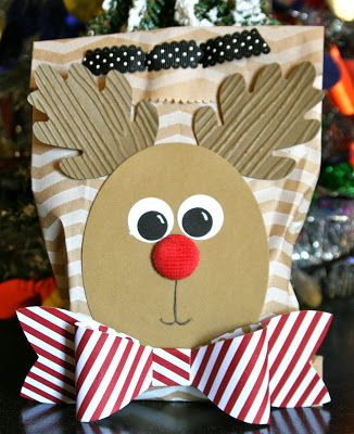 Stampin' Up! Christmas by Krystal's Cards and More: Rudolph Treat Bag