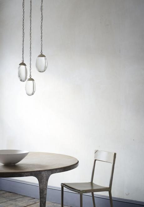 ochre pendants for powder room, main floor http://www.ochre.net/products/lighting/chandeliers/celestial-pebble/round-3/